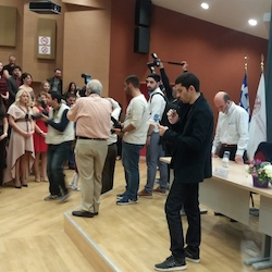 Oath recitation by Efstratios Tsoukanis